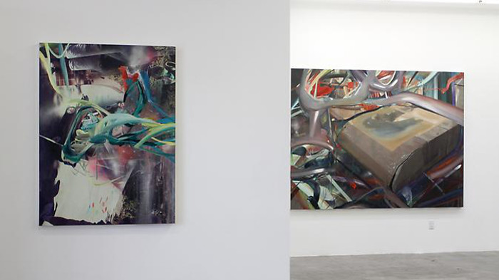 New Work, solo show at Mark Moore Gallery in Culver City, 2013, installation view, photo credits - Mark Moore Gallery