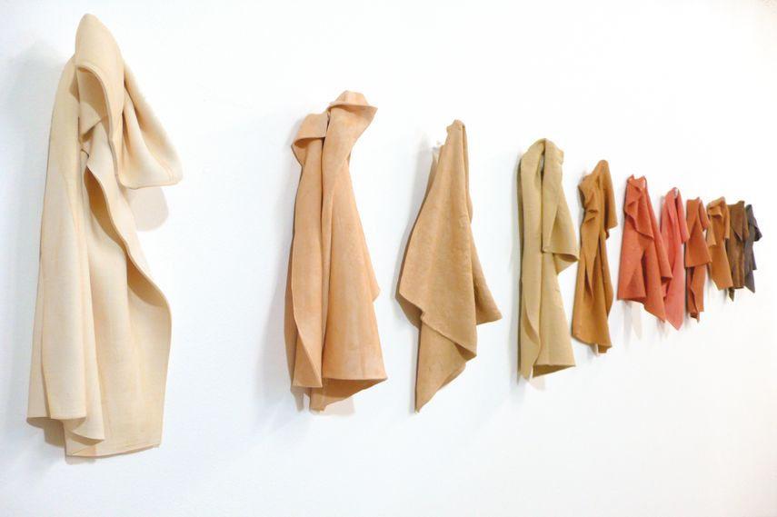 Juana Valdes - 9 color rags, Materiality exhibition. Courtesy of Anthony Spinello