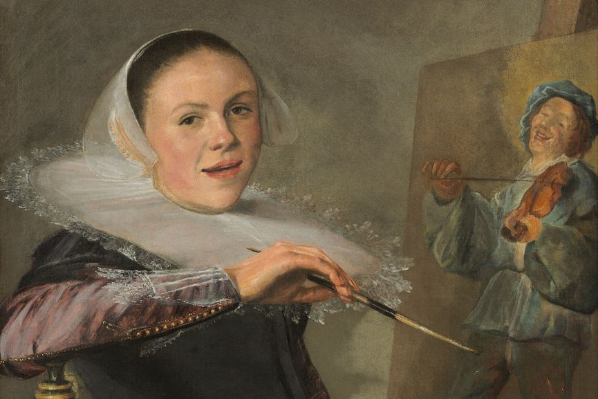 Judith Leyster - Self-Portrait (detail), c. 1633; coming from the 16th century arts family