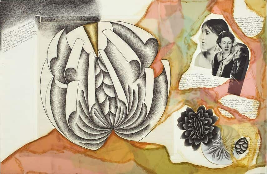 table of the dinner party with place settings for people just like Virginia Woolf