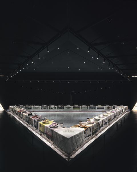 the heritage of the dinner party is huge as well as its place in art history
