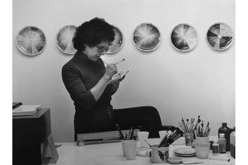 Judy Chicago in the China Painting Studio