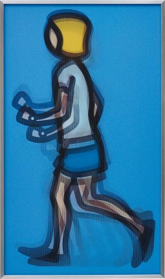 Julian Opie-Bibi Running-2012