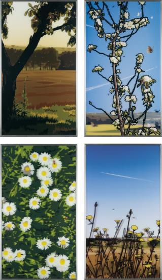Julian Opie-French Landscapes-2013