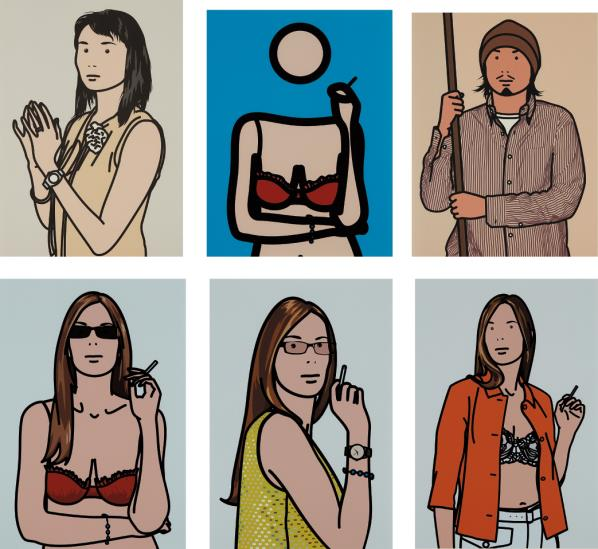Julian Opie-Twenty Six Portraits-2006
