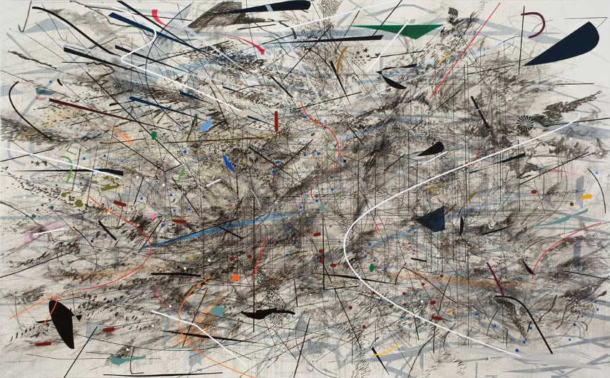 Julie Mehretu - Black City, 2007 -  gallery untitled home