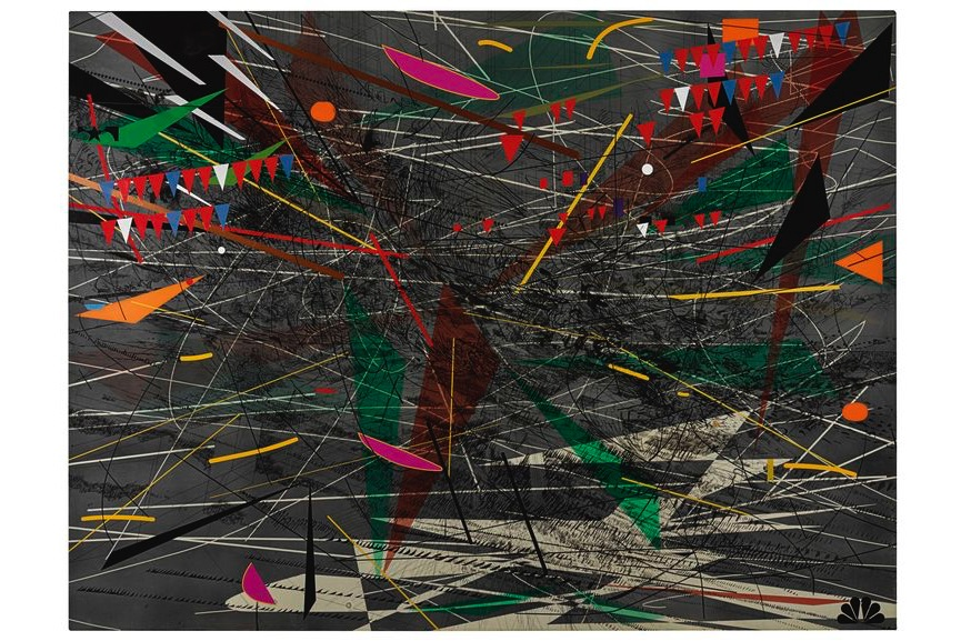 Julie Mehretu - Black Ground (Deep Light), 2006