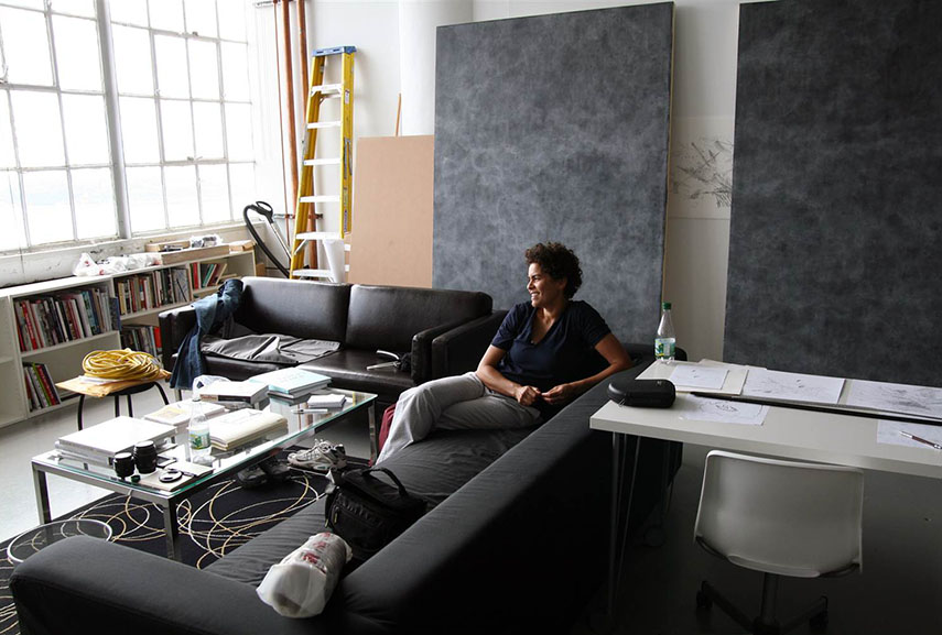 Julie Mehretu is one of the established contemporary female painters