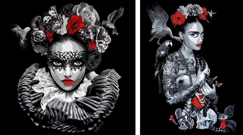 Juliette Clovis - Isaure 5, 2015 and Frida 2, 2015
