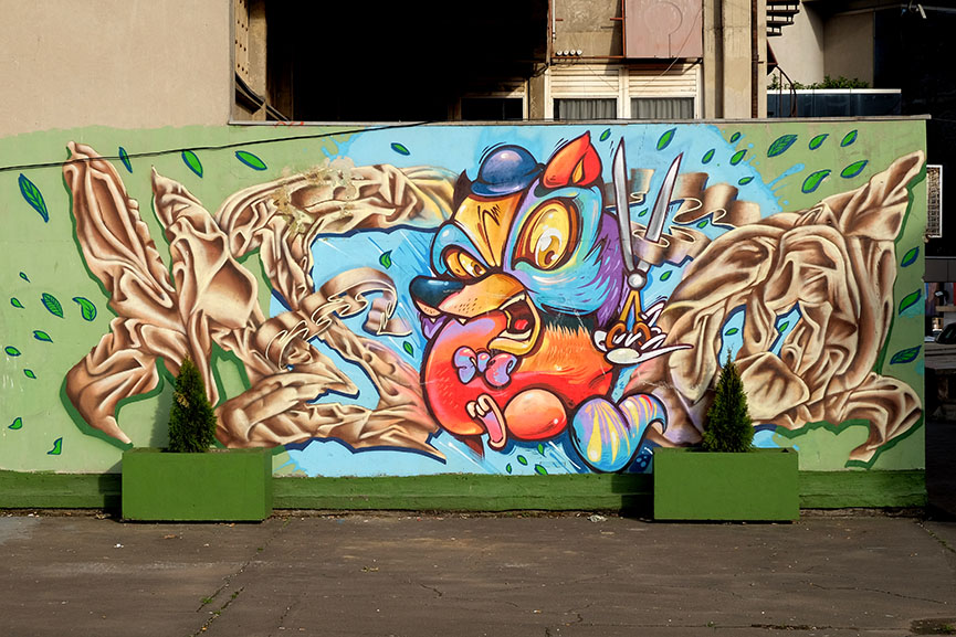Junk mural Belgrade