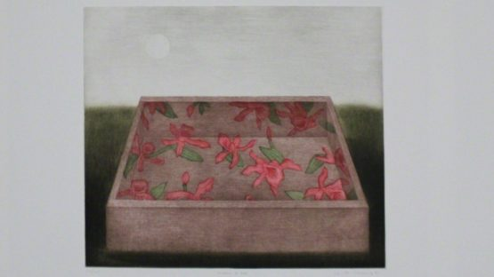 K. B. Hwang - Moon & Box, 1981 - Image courtesy of Sylvan Cole Gallery