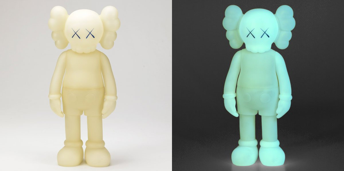KAWS-Five Years Later Companion (Blue Glow in the Dark)-2004