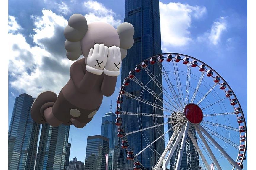 KAWS, COMPANION (EXPANDED) in Hong Kong, 2020, augmented reality