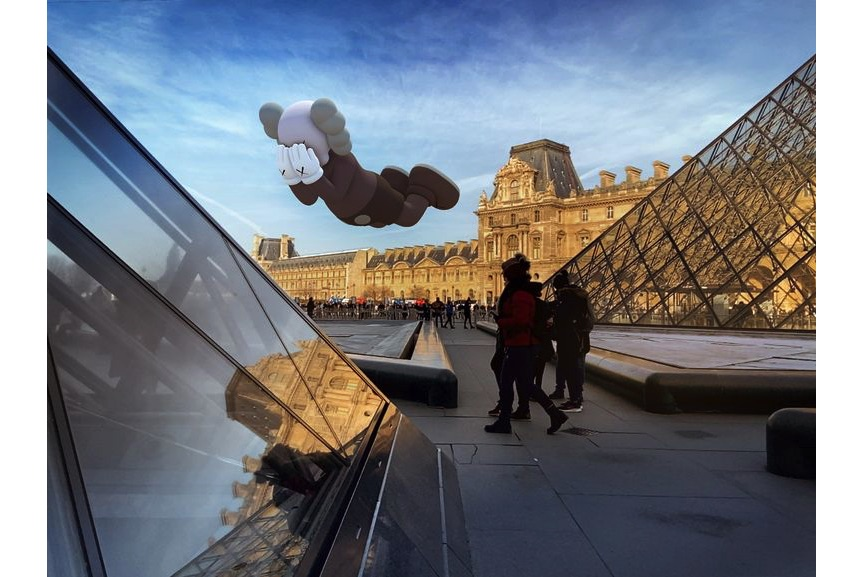 KAWS, COMPANION (EXPANDED) in Paris, 2020, augmented reality