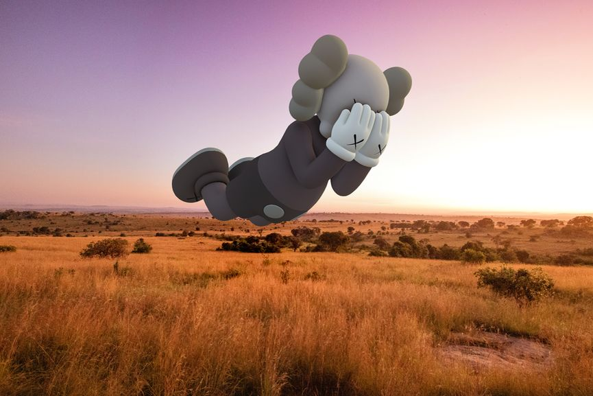 KAWS, COMPANION (EXPANDED) in Serengeti, 2020, augmented reality