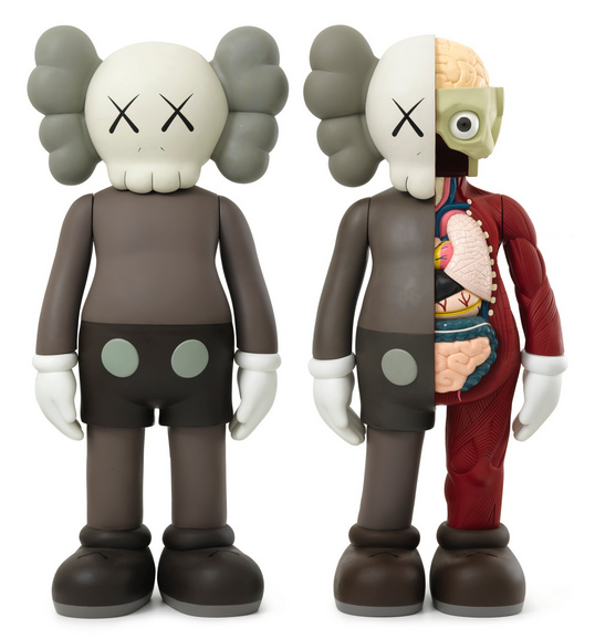 KAWS-Four Feet Companion (Brown), Dissected Four Feet Companion (Brown)-