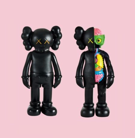 KAWS-Five Years Later Companion (Black), Dissected Companion (Black)-2004
