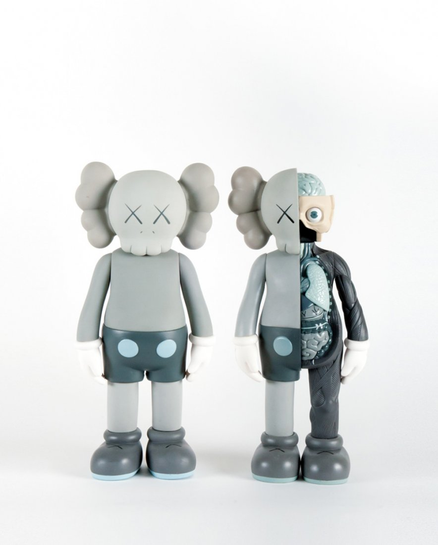 KAWS-Five Years Later Companion (Grey), Dissected Companion (Grey)-2004
