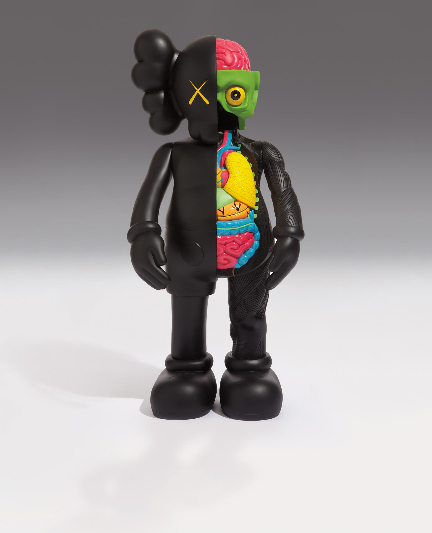 KAWS-Dissected Four Feet Companion (Black)-2009