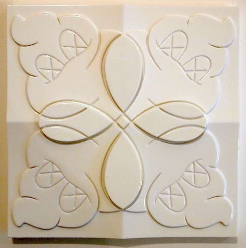 KAWS-Original Fake Tile (Cream)-2006