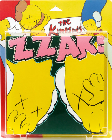 KAWS-Untitled (Kimpsons), Package Painting Series-2001