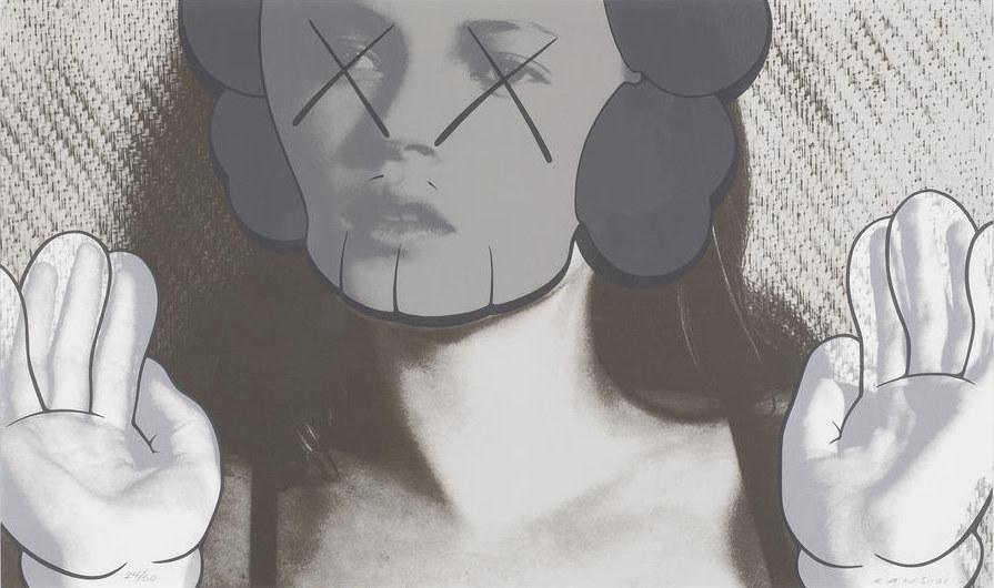 KAWS-Kate Moss, White Gloves-2001