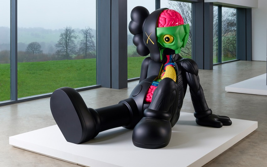 KAWS - sculpture, Yorkshire Sculpture Park, Wakefield, graphic 2016
