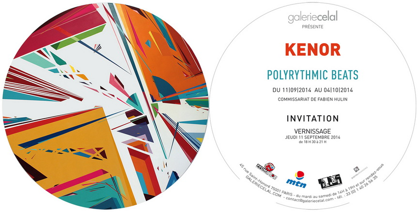 Kenor Polyrythmic Beats at Galerie Celal - flyer , 2014