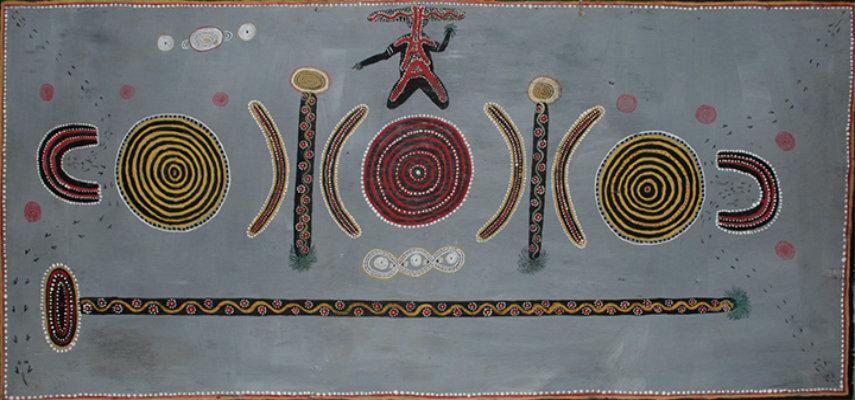 Kaapa Tjampitjinpa - Gulgardi, 1971, photo credits artgallery.nsw.gov.au