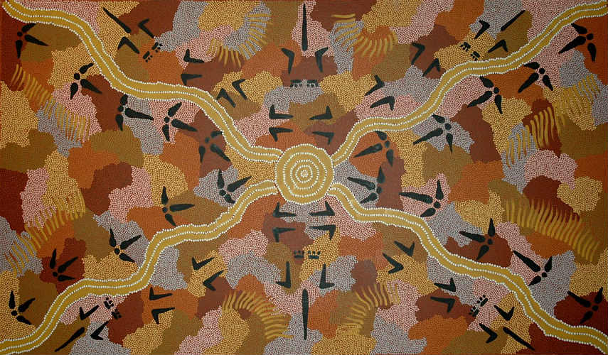 Kaapa  Tjampitjinpa - Untitled, photo credits aboriginalgalleryofdreamings.com