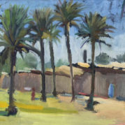 Kadhim Haider - A View Of Palm Trees In Taarimiyah Baghdad (Detail)