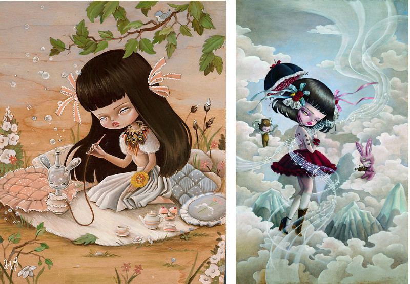 Kakula - Cupcakes and Bubbles (left), The Flow of Inspiration (right) - Illustration Home 2016 for details