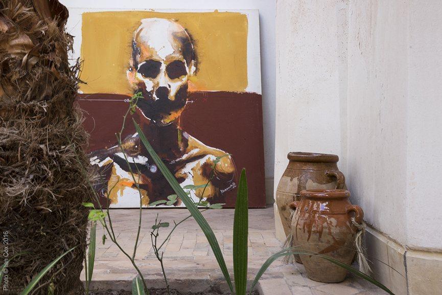 Kalamour's original artwork in Street Art Gallery Photo © Ian Cox_2016