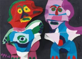 Karel Appel-Couple In Wood-1976