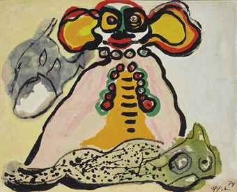 Karel Appel-Sans titre (le clown)-1974