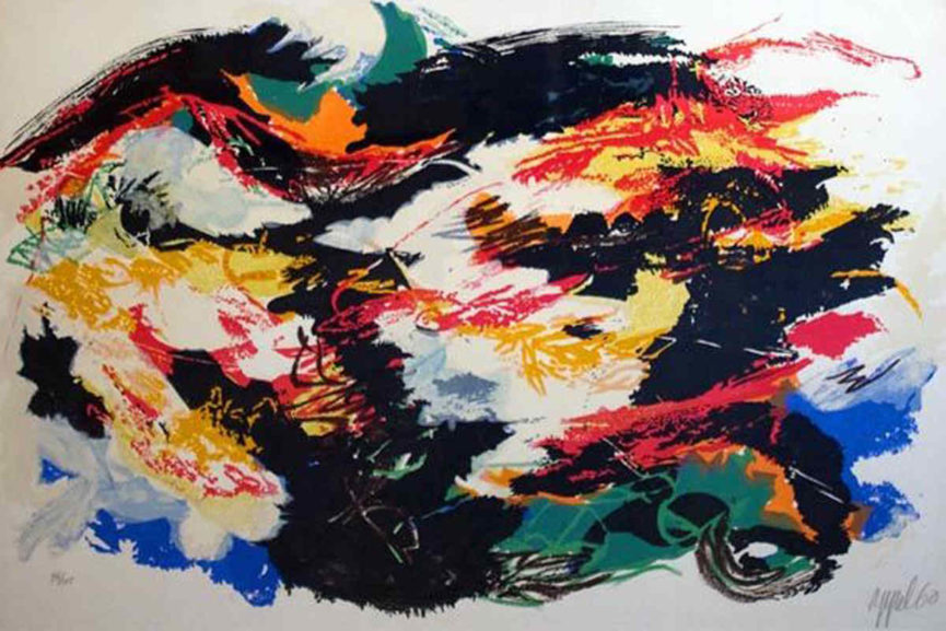 Karel Appel - Signed and dated artwork from 1960 - Image via Pinterest com