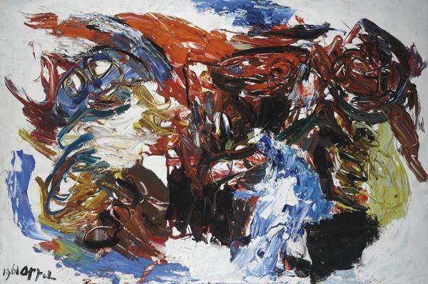 Karel Appel-Tetes Partout - Paysage Humain-1961