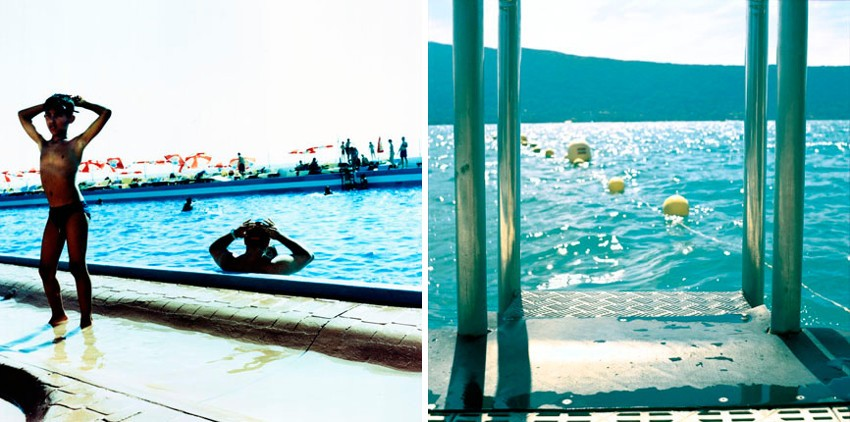 Karine Laval - Untitled #09, Cascais, Portugal, 2002 (Left) / Untitled #16, Annecy, France, 2002 (Right)