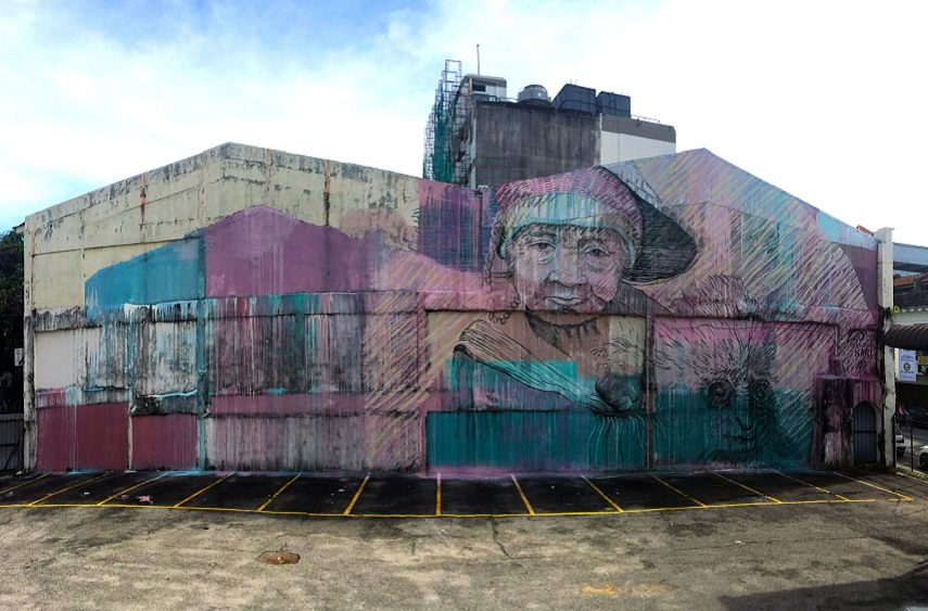 Karl Addison - Symbiotic Mural, Penang, Malaysia, 2014