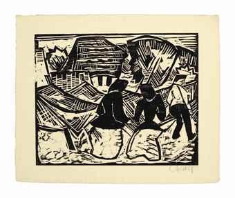 Karl Schmidt-Rottluff-Bei dei Netzen-1914