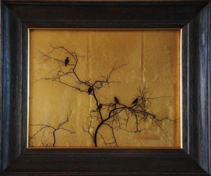 Kate Breakey – Five Birds in Tree, 2014-2015