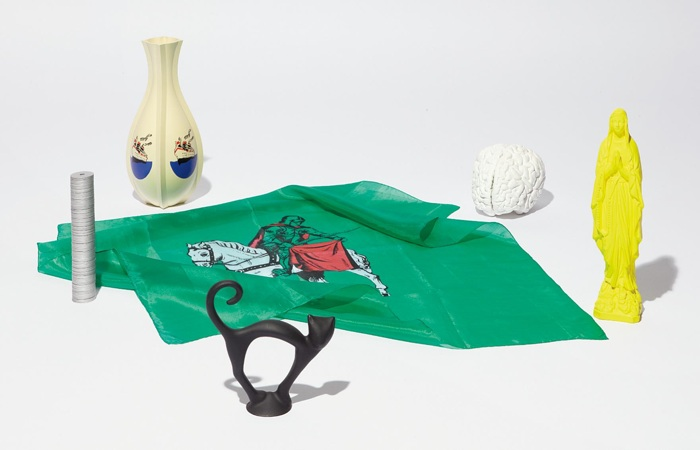 Katharina Fritsch-Madonna; Brain; Vase; Scarf; Black Cat; and Money-1989