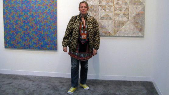 Katherine Bernhardtat Xylor Jane, Armory Show 2010, Canada, photo by Martin Bromirski
