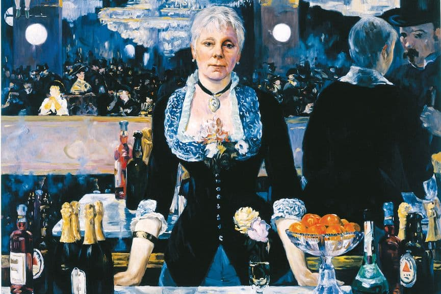 Kathleen Gilje - Linda Nochlin in Manet's Bar at the Folies-Bergere, 2005 (detail)