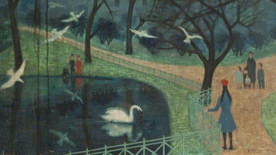 Kathleen Guthrie - Waterlow Park, 1972 (Detail) - Copyright Peter Scott Gallery