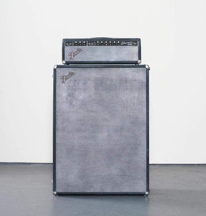 Kaz Oshiro-Fender Showman Amp with Cabinet #1 (Screaming Hand)-2002
