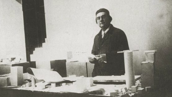 Kazimir Malevich - Photo of the artist inside his laboratory, 1932 - Image via thecharnelhouse.org