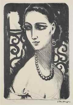 Kees van Dongen-Le Collier de Perles-1924