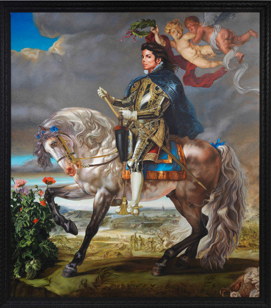 Kehinde Wiley - Equestrian Portrait of Philip II (like Pop songs of Michael Jackson), 2010
