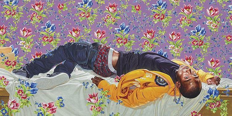 Kehinde Wiley-Femme Piquée Par Un Serpent II-2010
